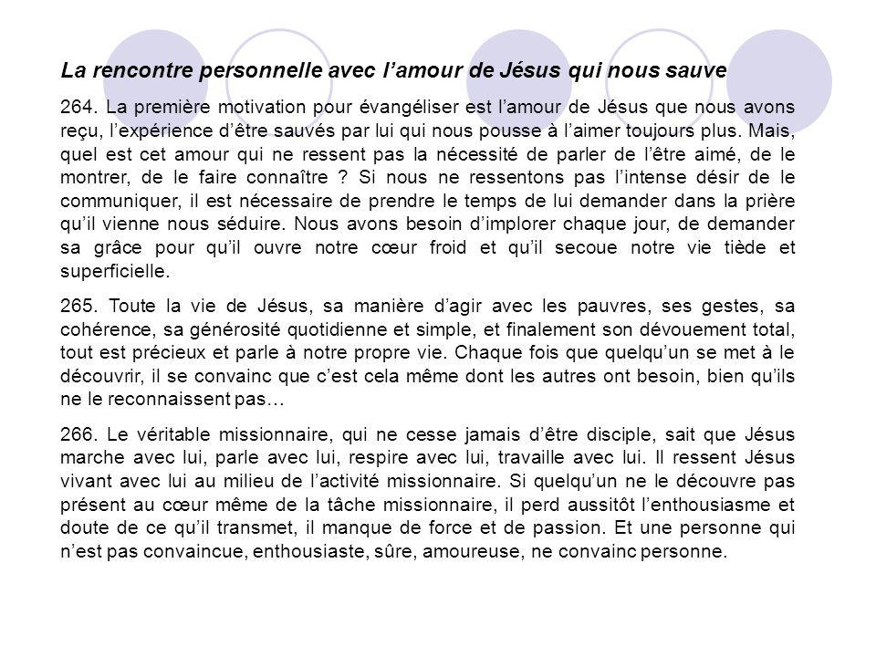La rencontre personnelle avec l'amour de Jésus qui nous sauve