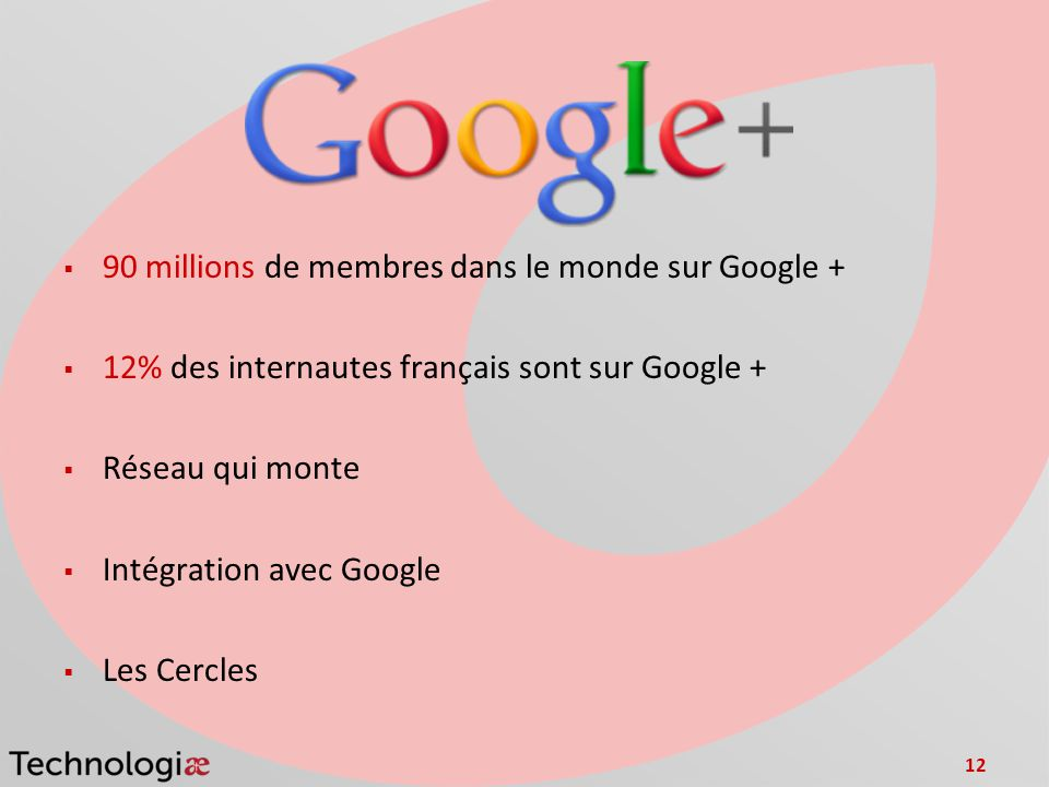 90 millions de membres dans le monde sur Google +