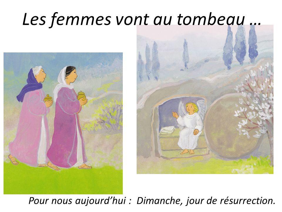 Les femmes vont au tombeau …