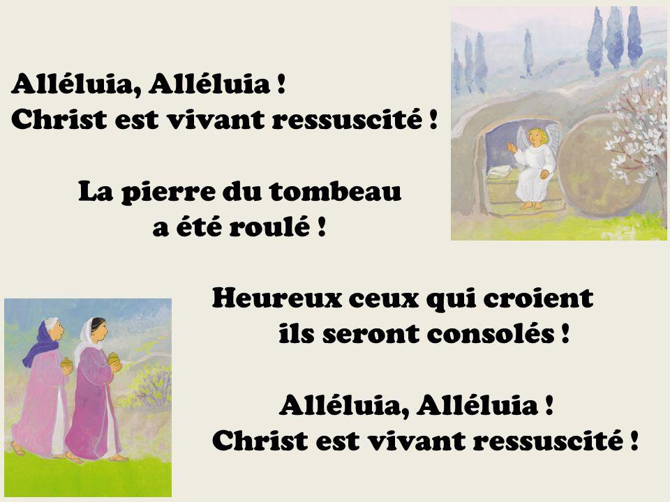 Christ est vivant ressuscité ! La pierre du tombeau a été roulé !