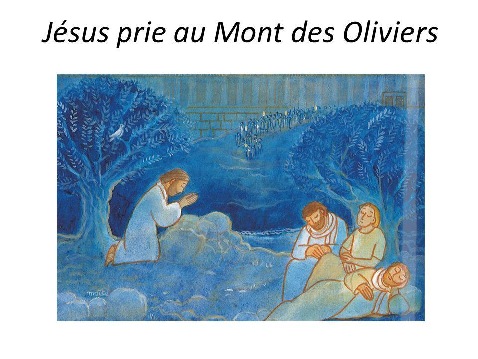 Jésus prie au Mont des Oliviers