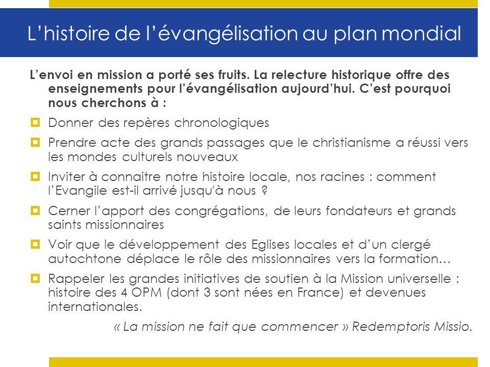 L'histoire de l'évangélisation au plan mondial