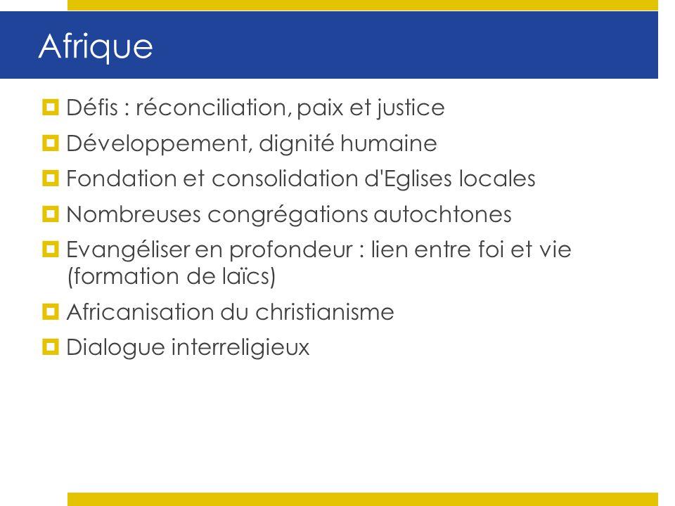 Afrique Défis : réconciliation, paix et justice