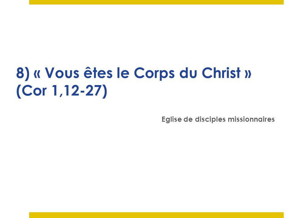 8) « Vous êtes le Corps du Christ » (Cor 1,12-27)