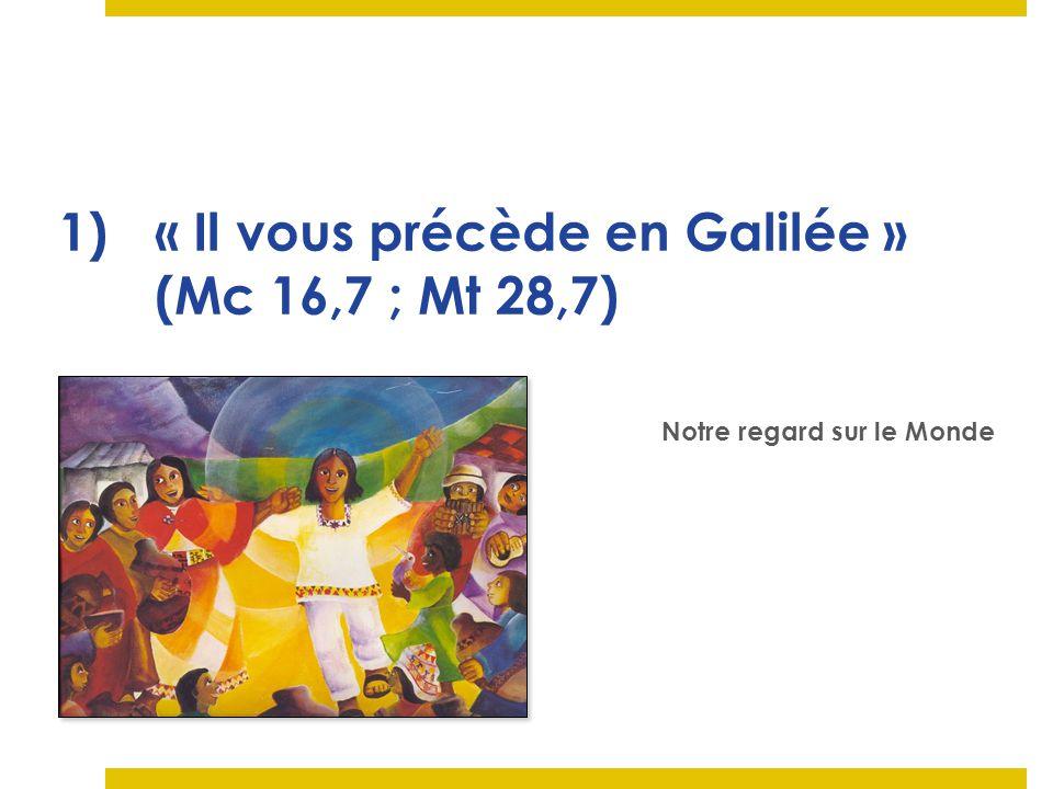 « Il vous précède en Galilée » (Mc 16,7 ; Mt 28,7)