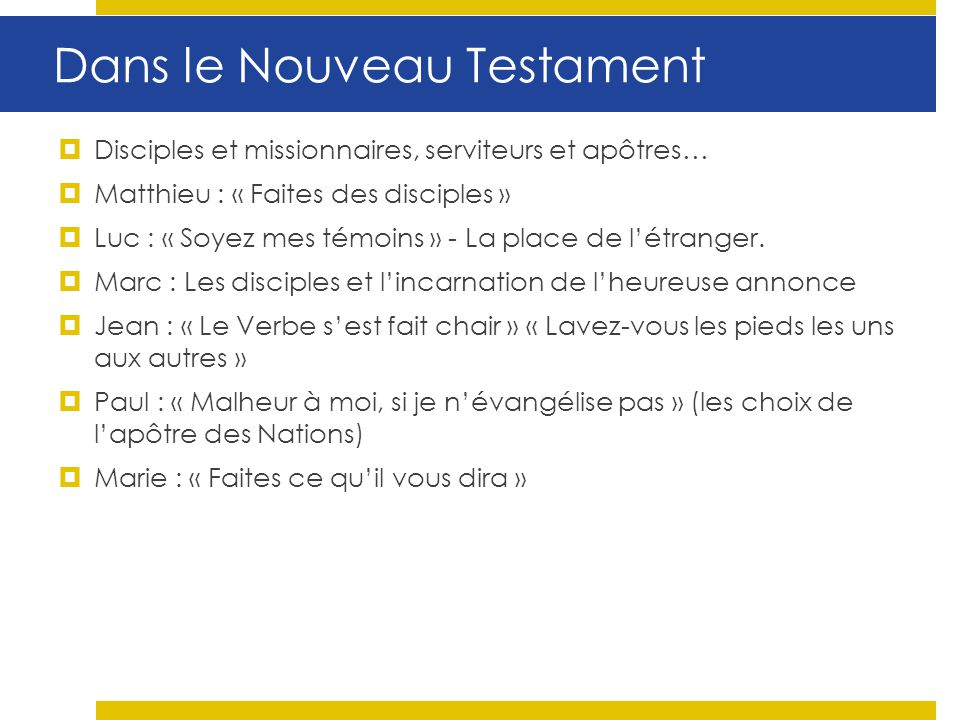 Dans le Nouveau Testament