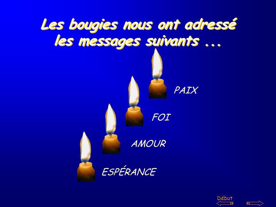Les bougies nous ont adressé