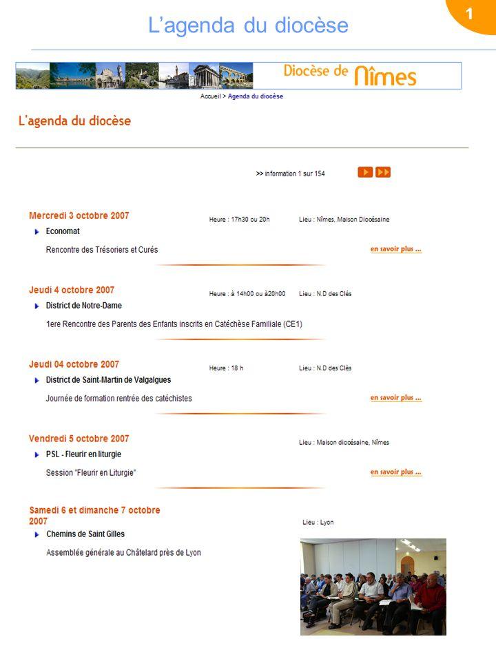 1 L'agenda du diocèse