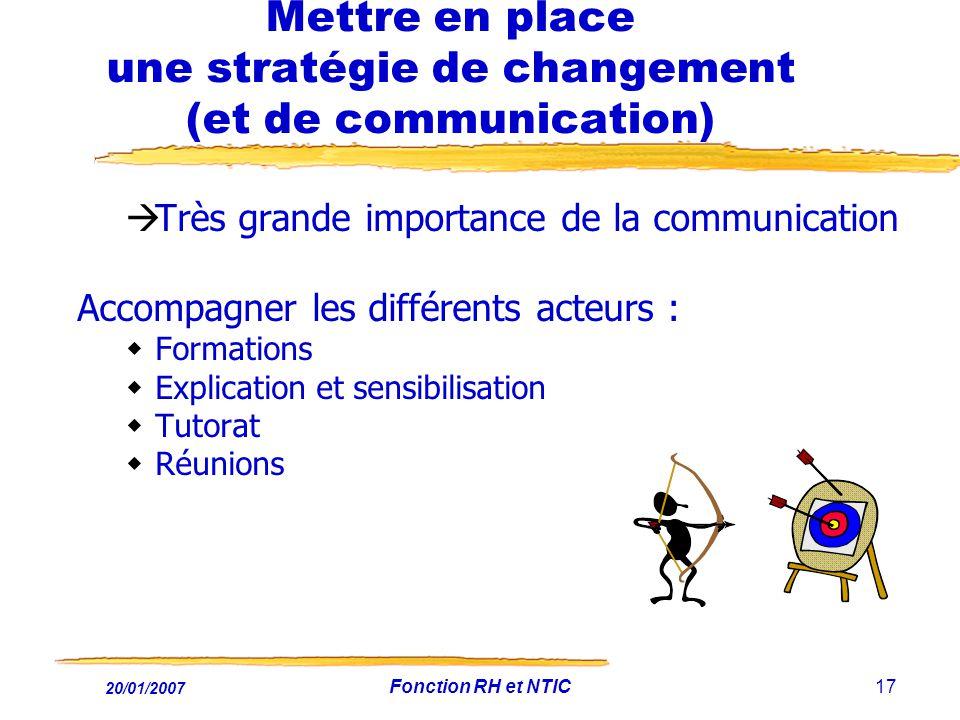 Mettre en place une stratégie de changement (et de communication)