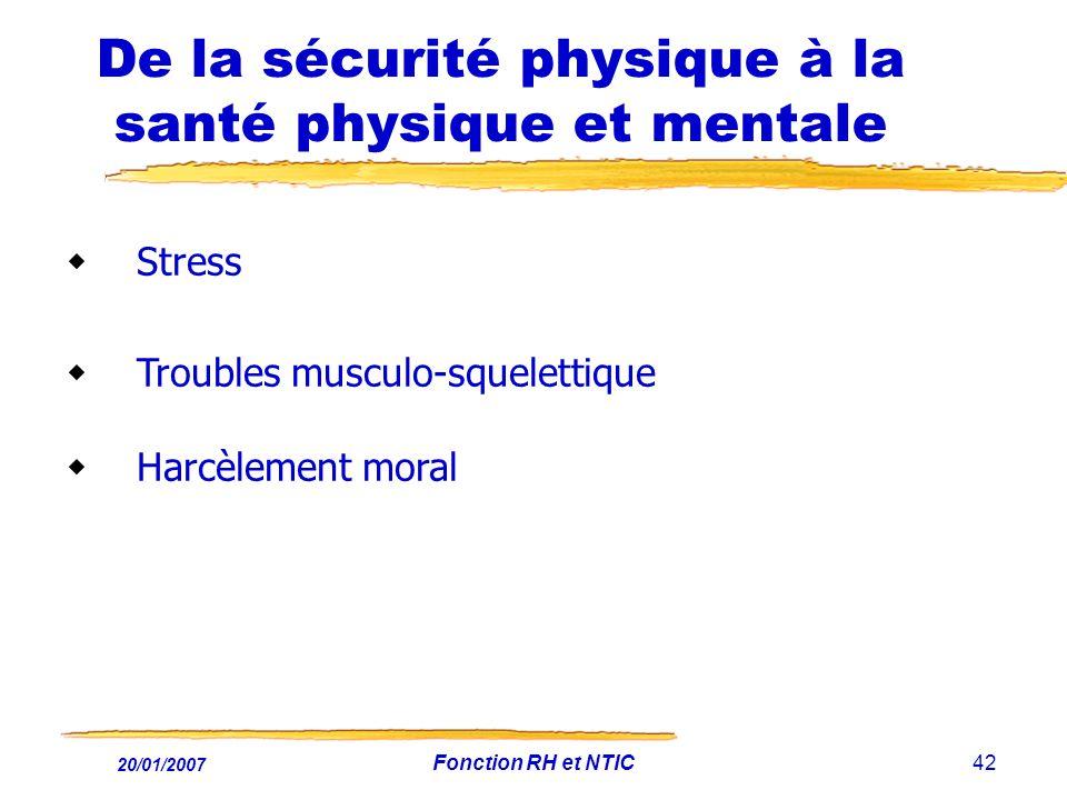 De la sécurité physique à la santé physique et mentale