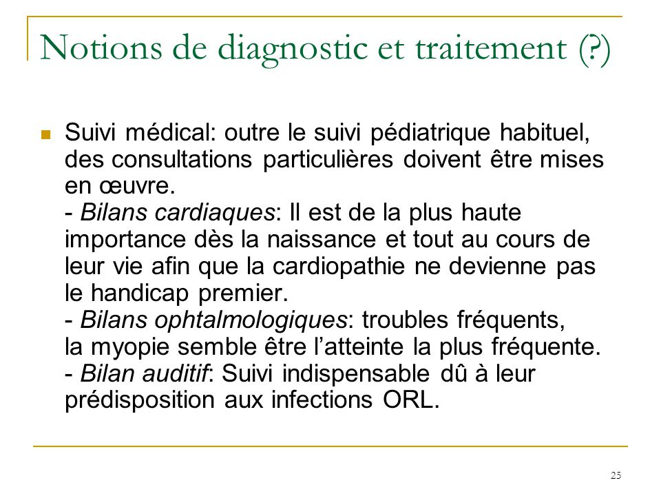 Notions de diagnostic et traitement ( )