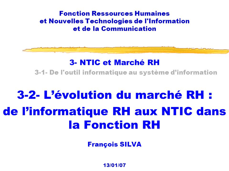 3-2- L'évolution du marché RH :