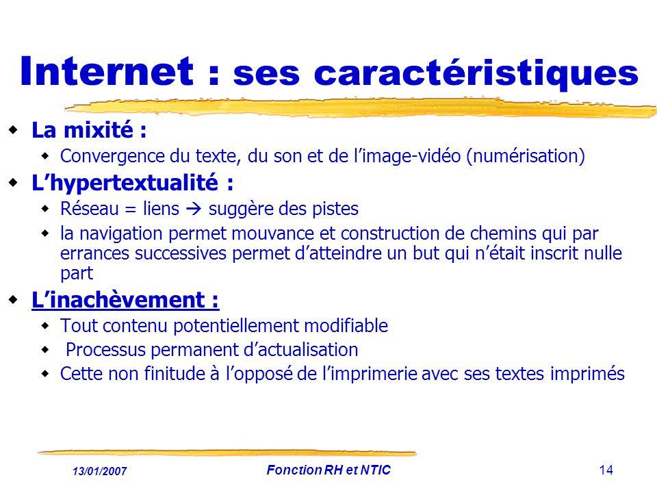 Internet : ses caractéristiques