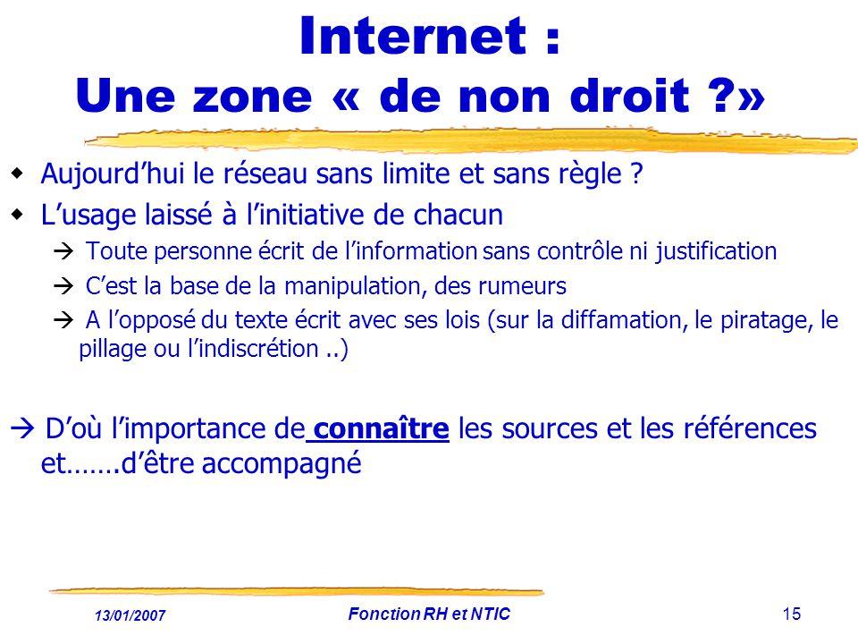 Internet : Une zone « de non droit »