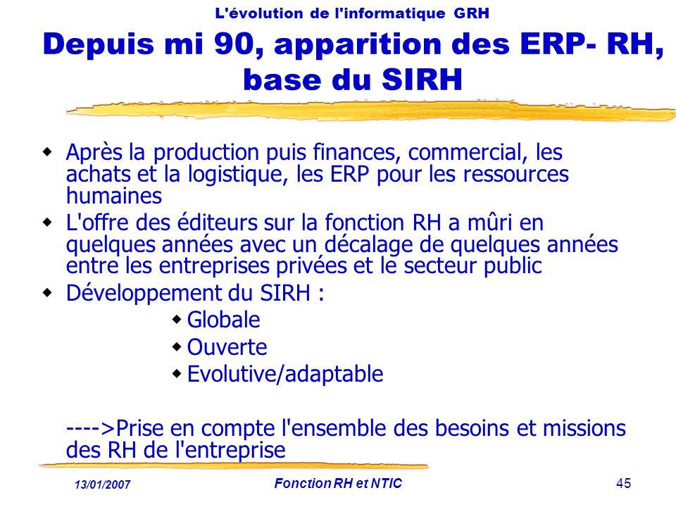 Développement du SIRH : Globale Ouverte Evolutive/adaptable