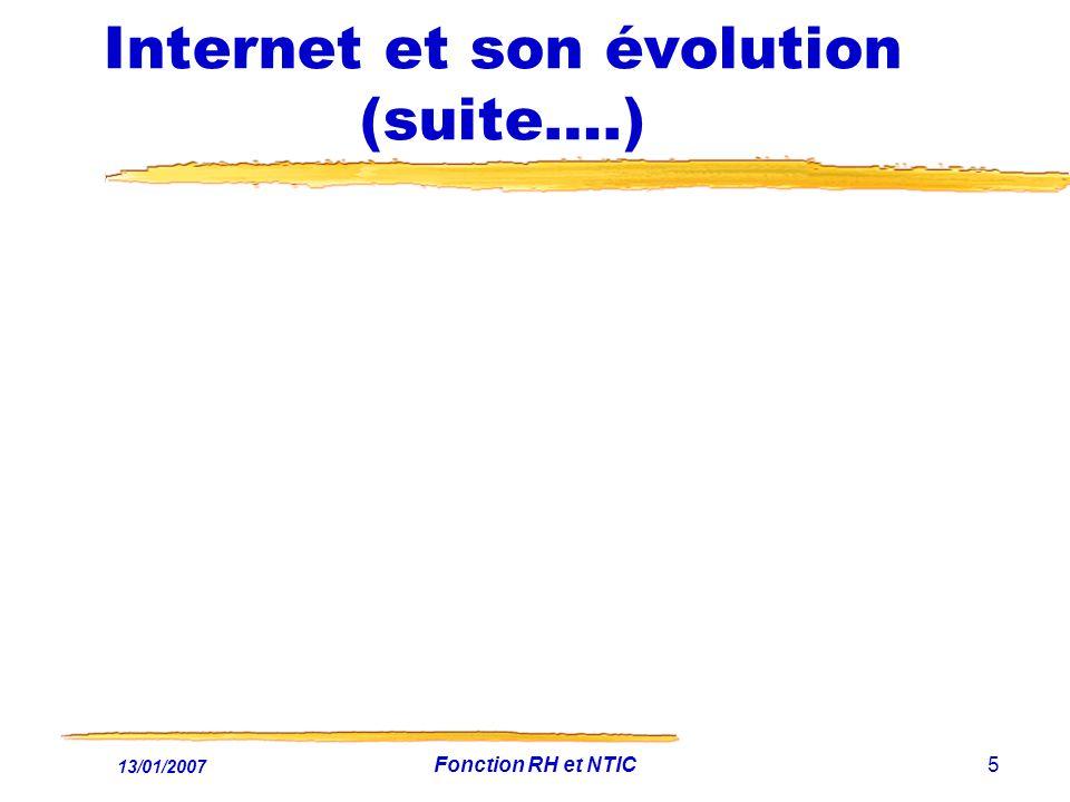 Internet et son évolution (suite….)