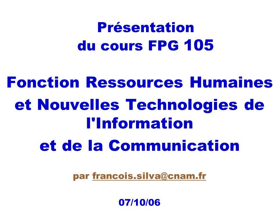 Présentation du cours FPG 105