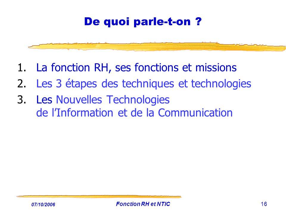 La fonction RH, ses fonctions et missions
