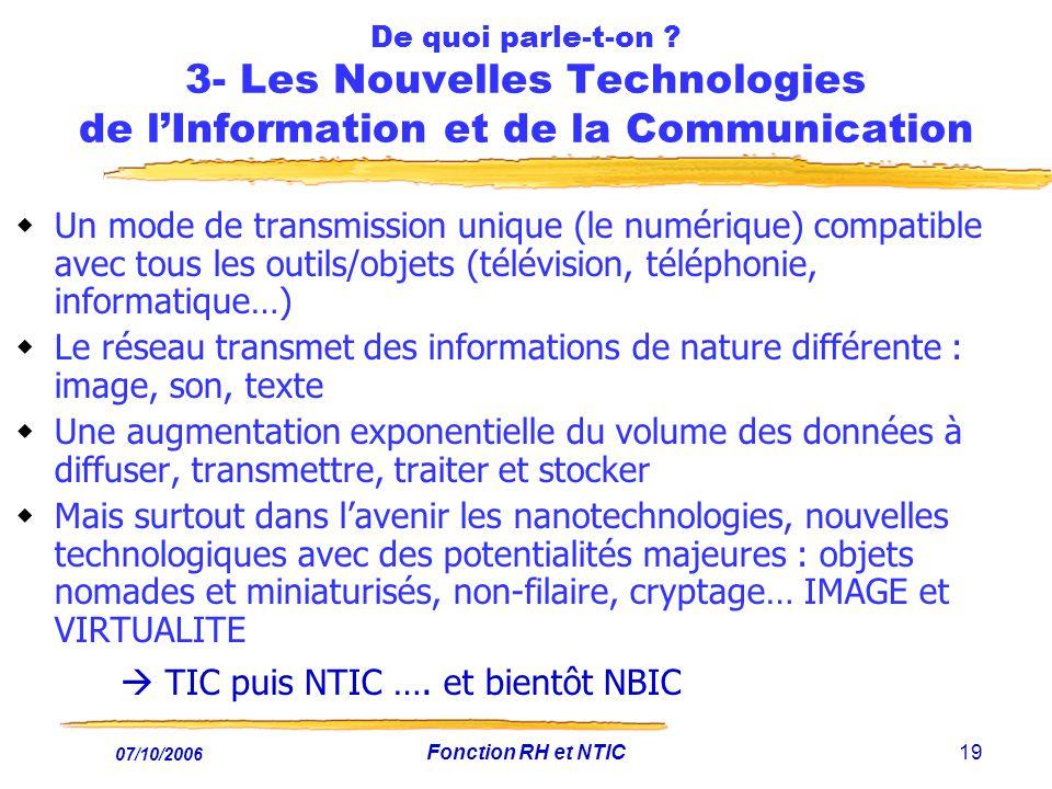  TIC puis NTIC …. et bientôt NBIC