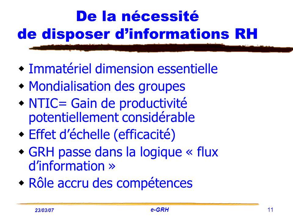 De la nécessité de disposer d'informations RH