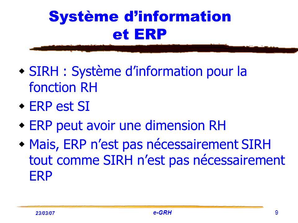 Système d'information et ERP