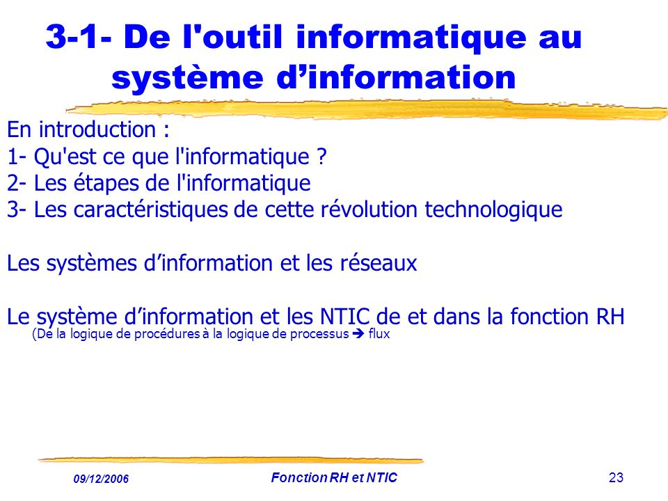 3-1- De l outil informatique au système d'information