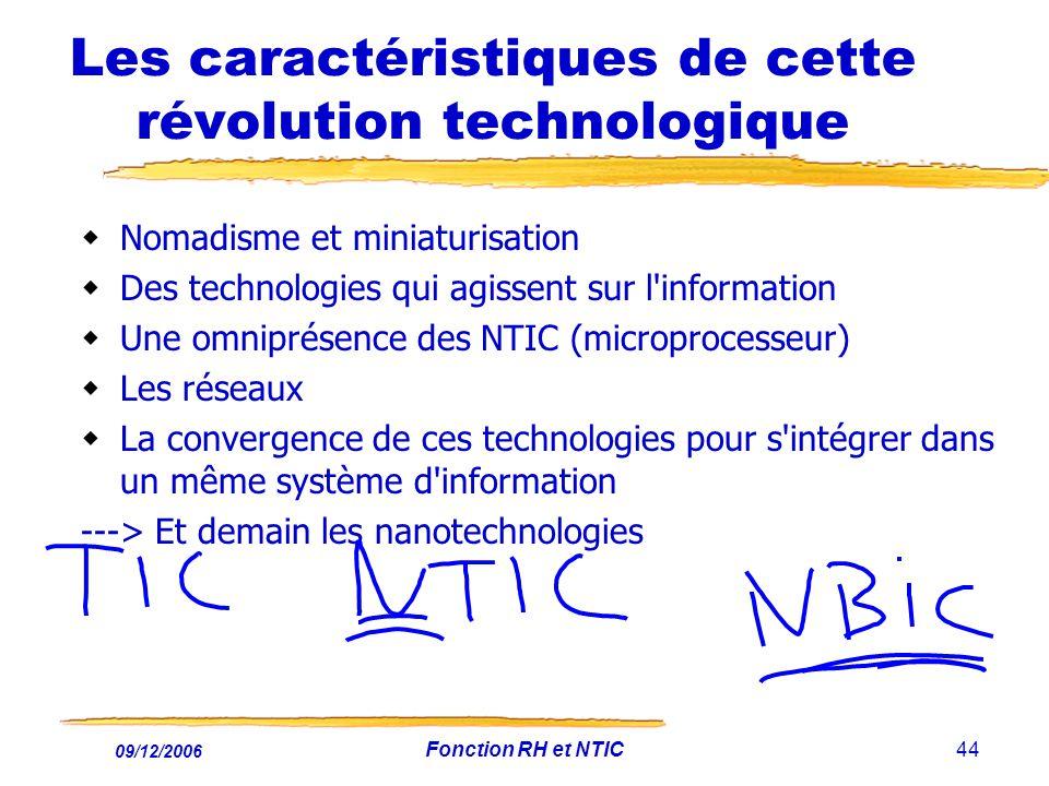 Les caractéristiques de cette révolution technologique
