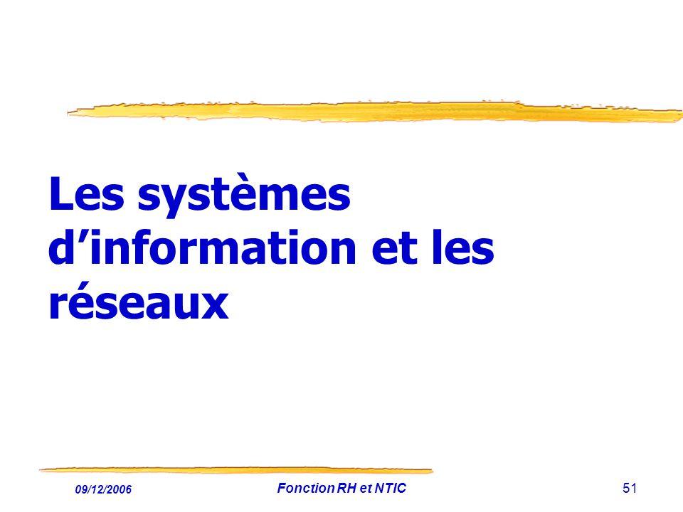 Les systèmes d'information et les réseaux