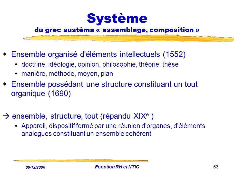 Système du grec sustêma « assemblage, composition »