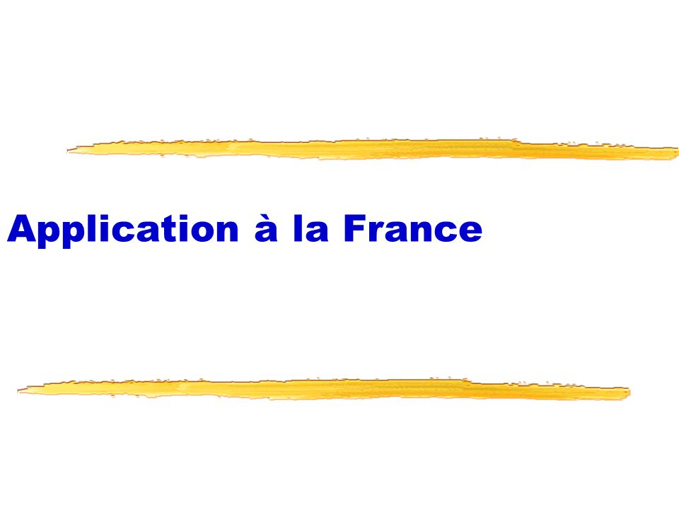 Application à la France