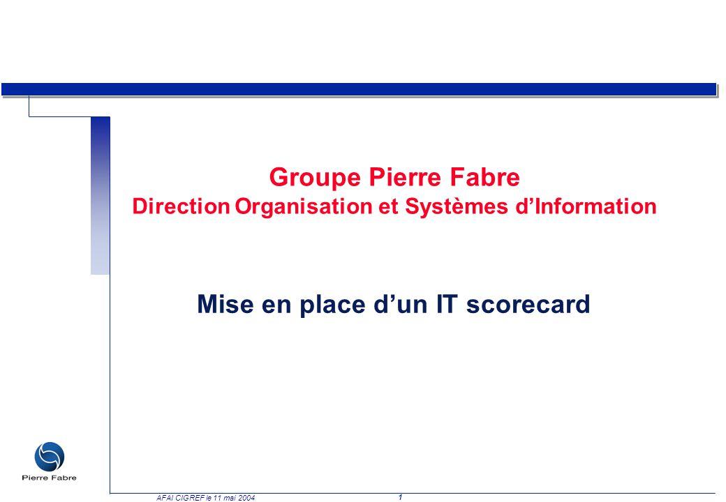 Groupe Pierre Fabre Direction Organisation et Systèmes d'Information