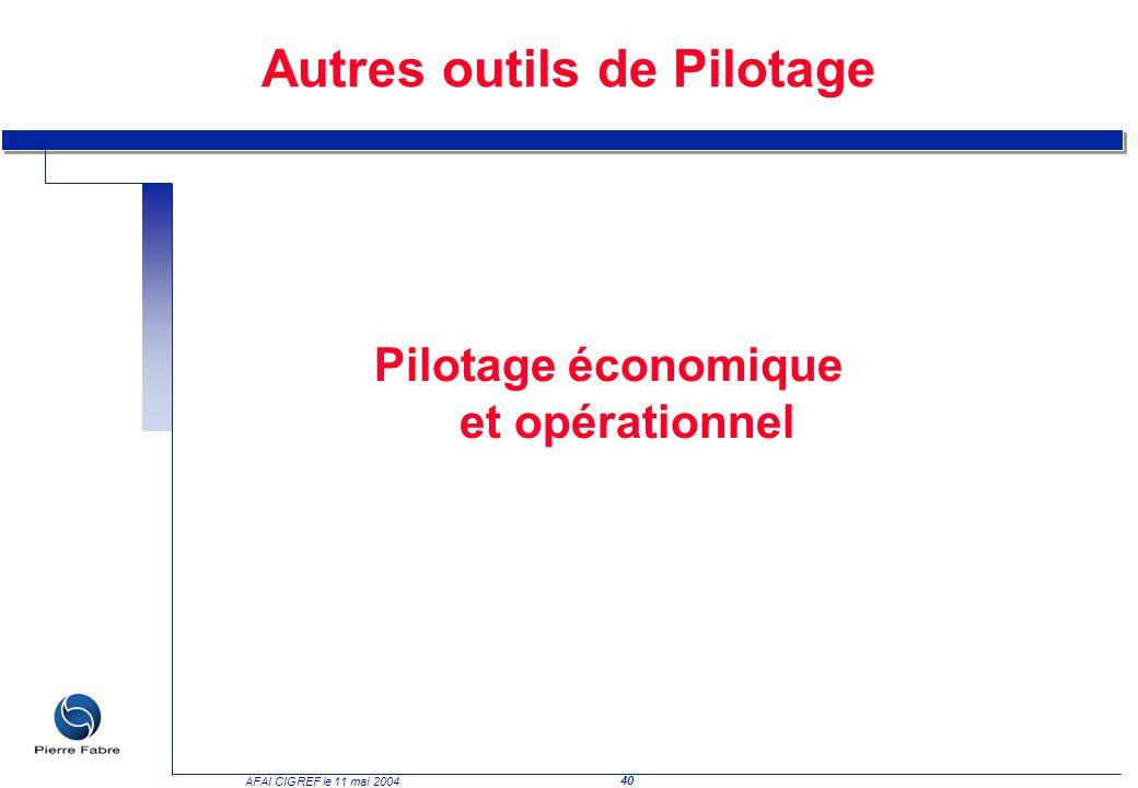 Pilotage économique et opérationnel