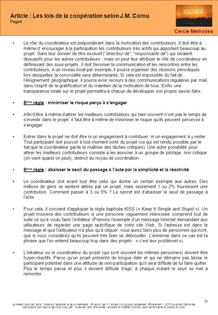 Article : Les lois de la coopération selon J.M. Cornu Page4