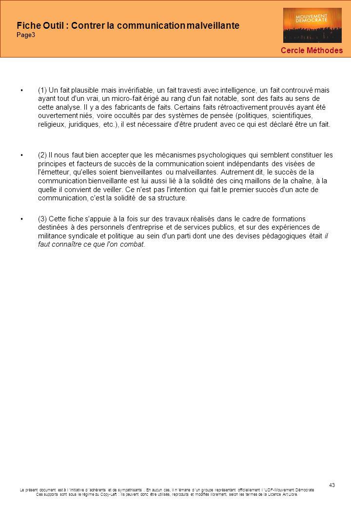 Fiche Outil : Contrer la communication malveillante Page3