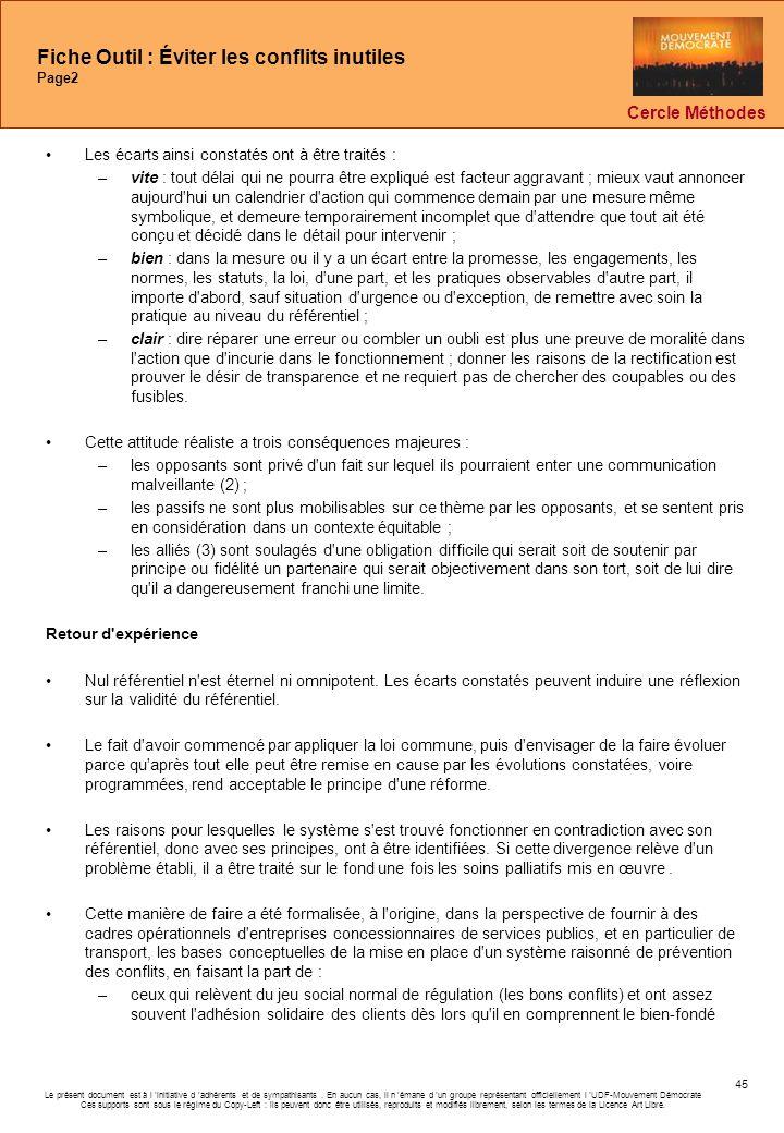 Fiche Outil : Éviter les conflits inutiles Page2