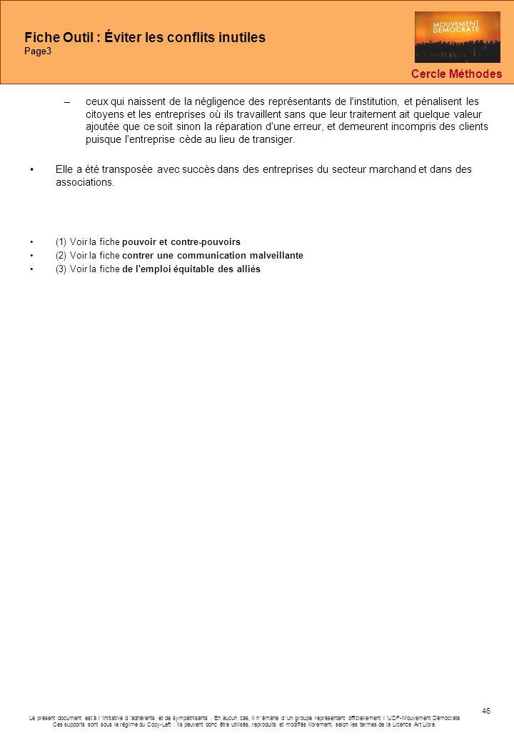 Fiche Outil : Éviter les conflits inutiles Page3
