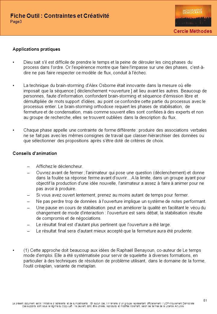 Fiche Outil : Contraintes et Créativité Page3