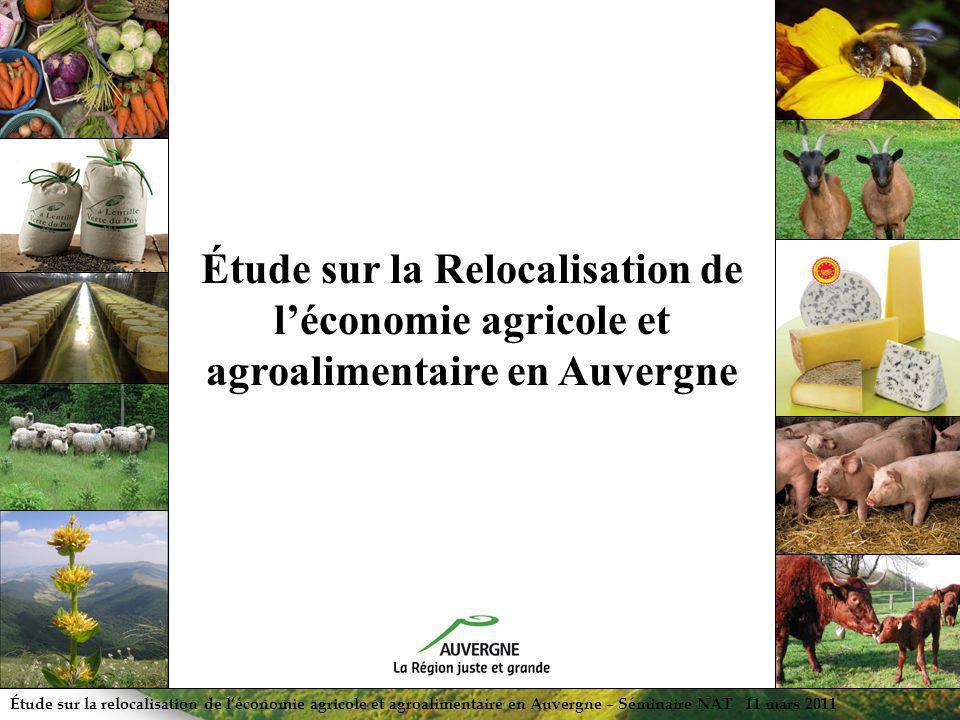 Étude sur la Relocalisation de l'économie agricole et agroalimentaire en Auvergne