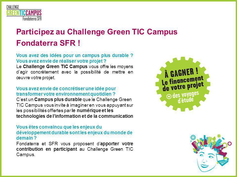 Participez au Challenge Green TIC Campus Fondaterra SFR !