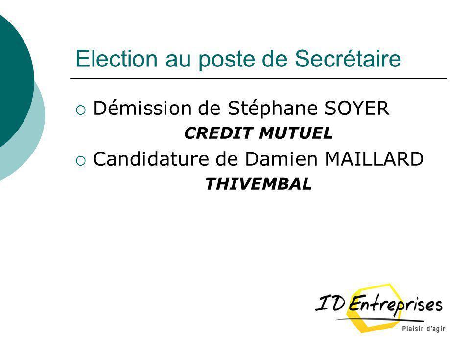 Election au poste de Secrétaire