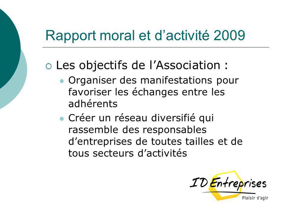 Rapport moral et d'activité 2009