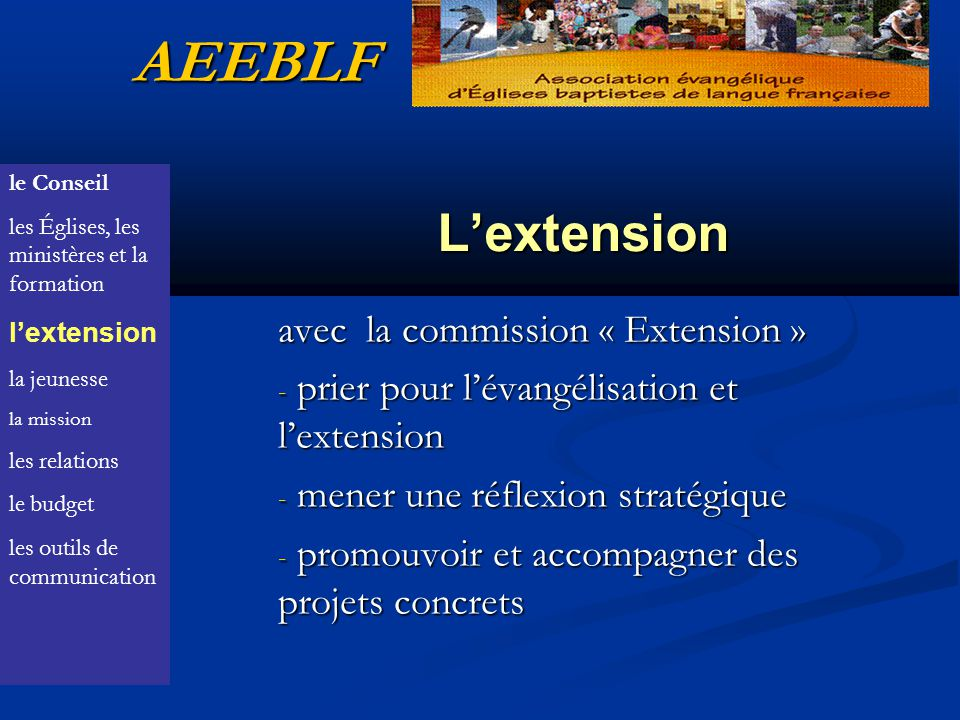 AEEBLF L'extension avec la commission « Extension »