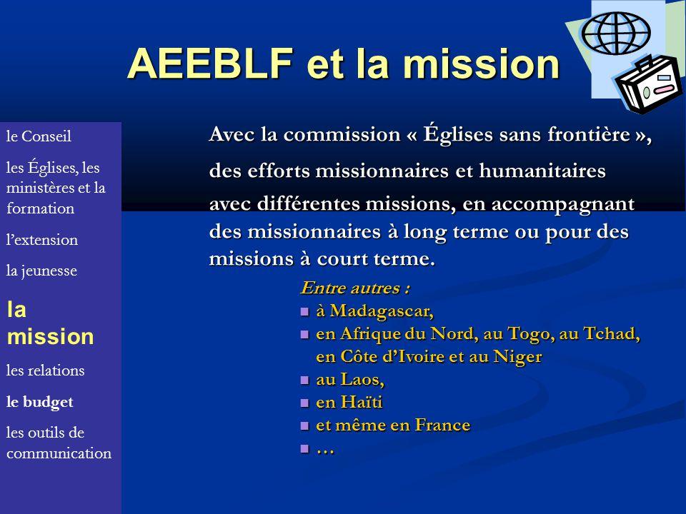 AEEBLF et la mission Avec la commission « Églises sans frontière »,