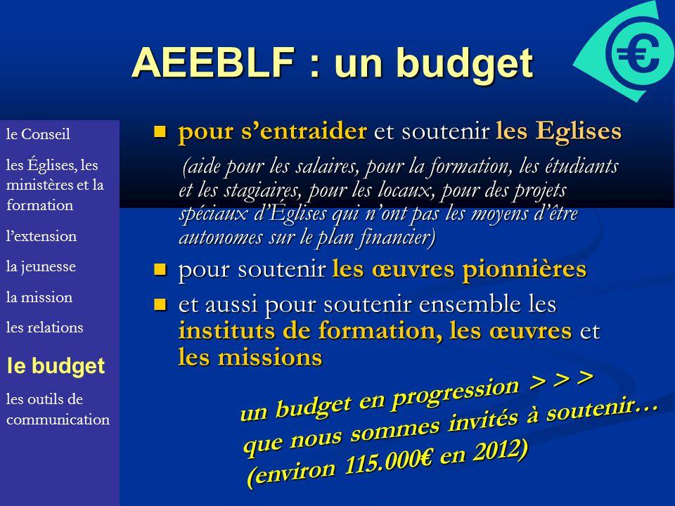 AEEBLF : un budget pour s'entraider et soutenir les Eglises