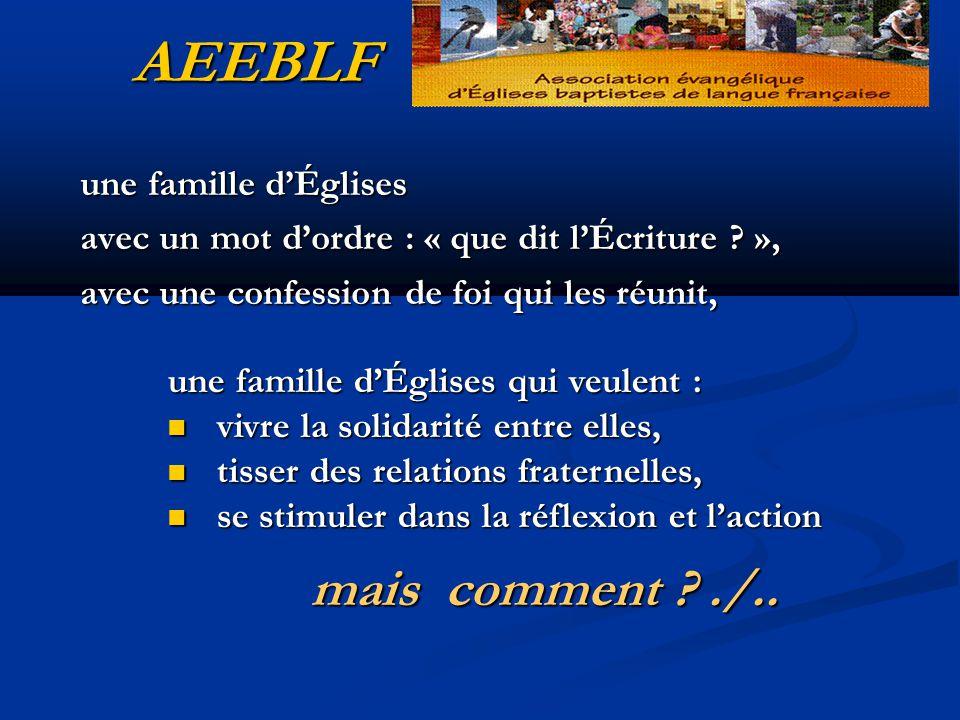 AEEBLF une famille d'Églises