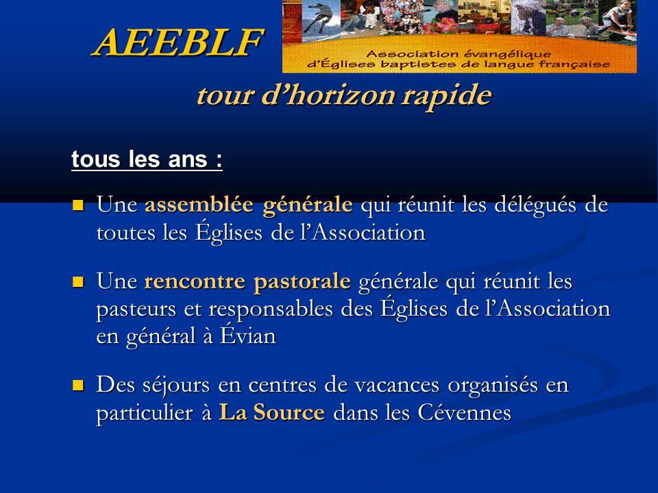 AEEBLF tour d'horizon rapide