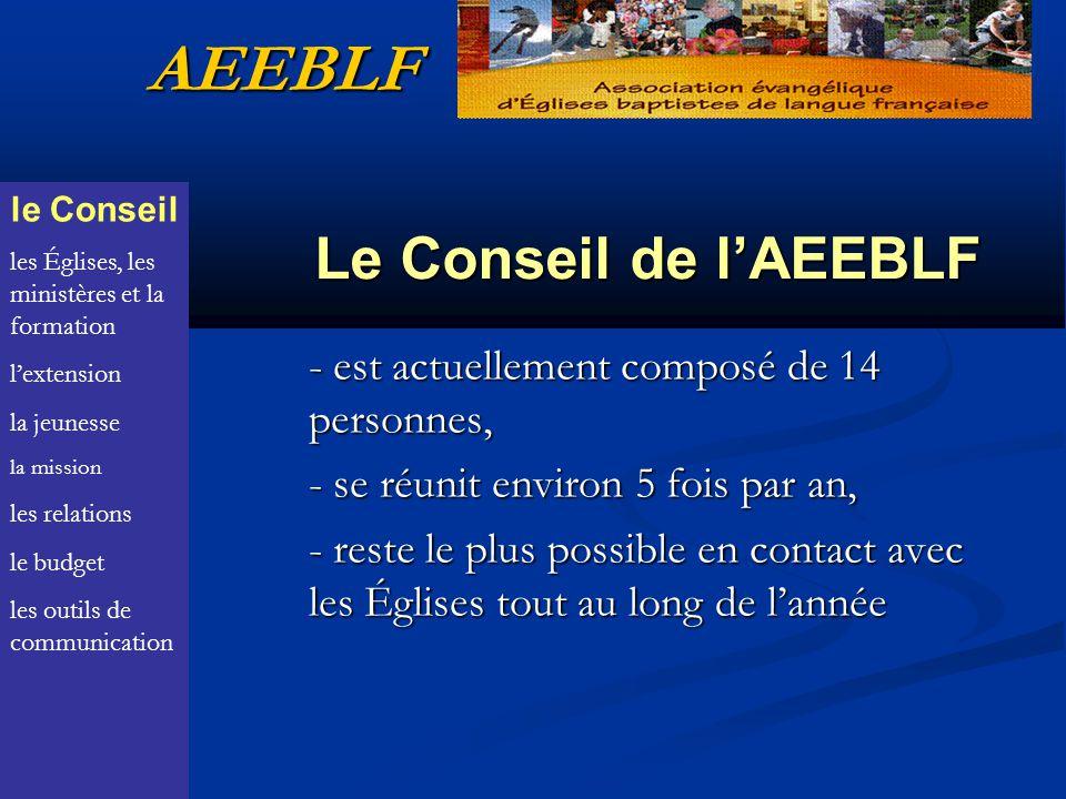AEEBLF Le Conseil de l'AEEBLF