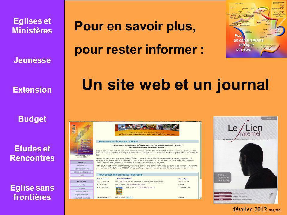 Eglise sans frontières Un site web et un journal