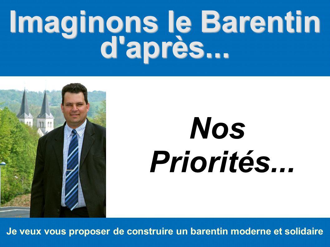 Imaginons le Barentin d après... Nos Priorités...