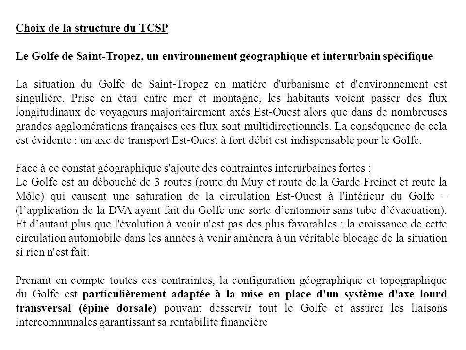 Choix de la structure du TCSP